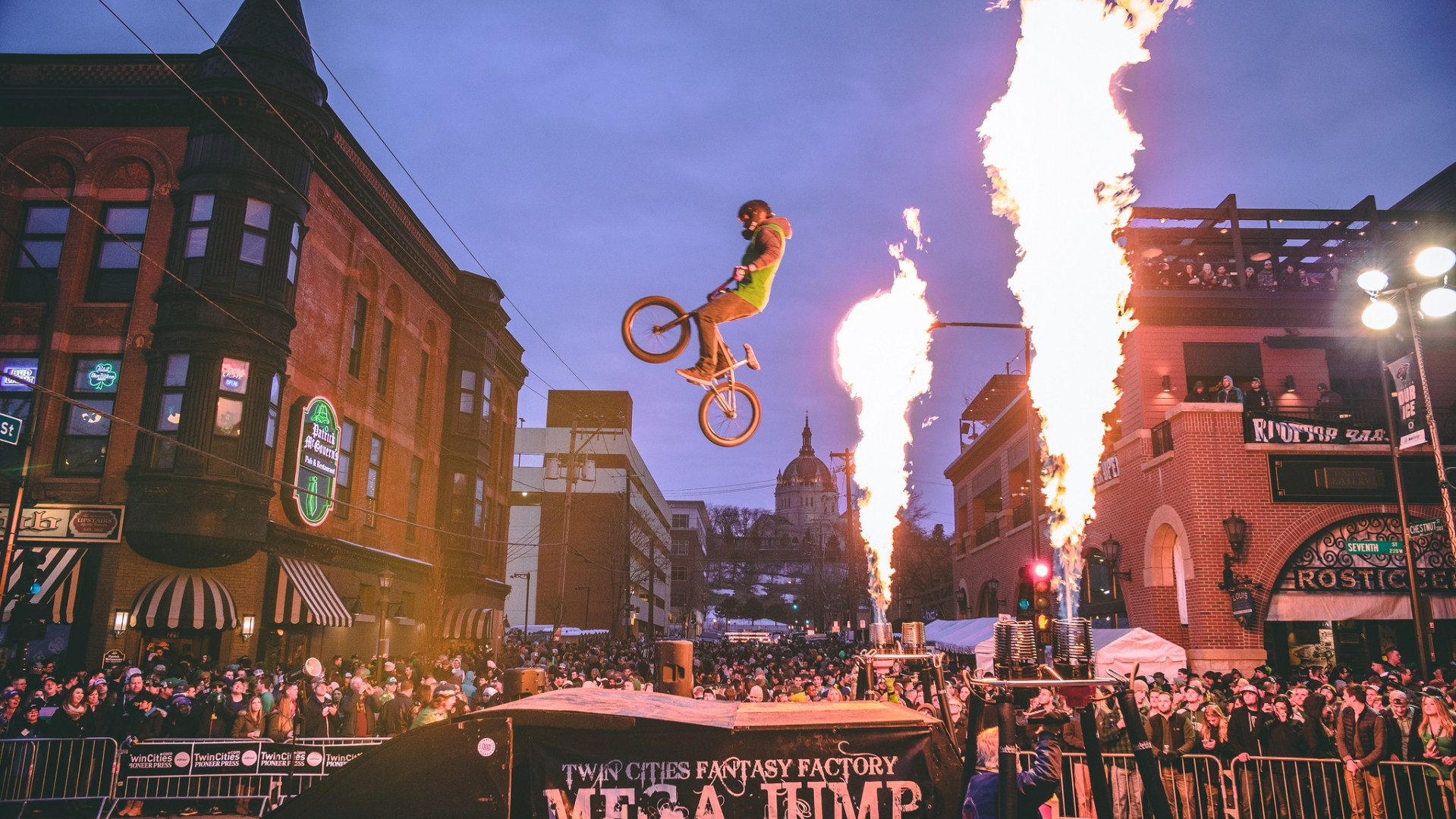 Check out the crazy stunts with fire from Ride MN