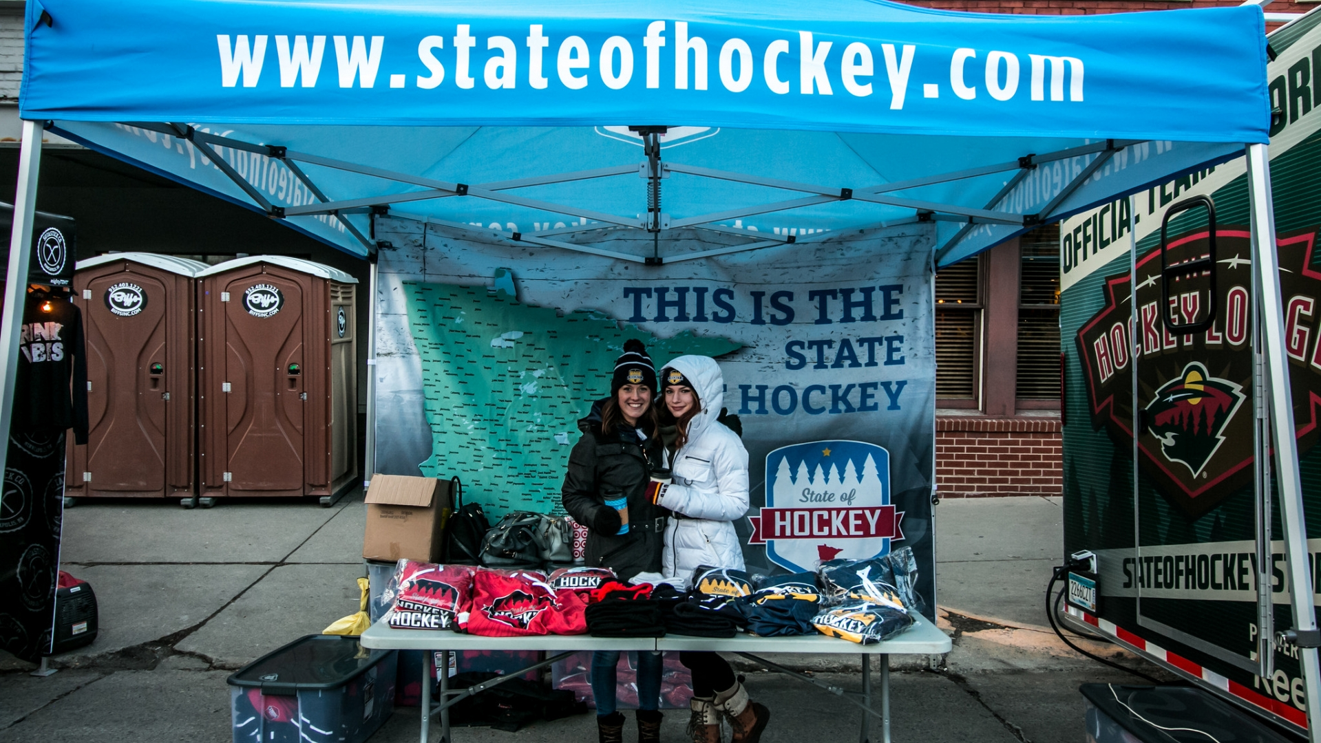 Check out the hockey vendors at the Interactive Hockey Zone!