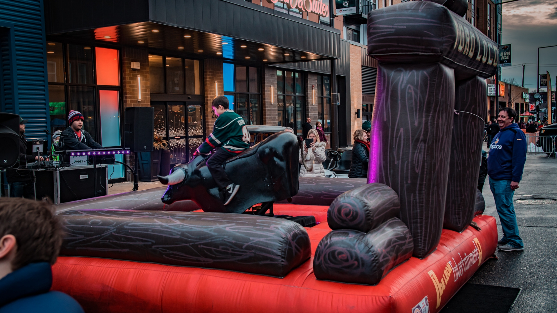 Test your skills on the wild and crazy mechanical bull