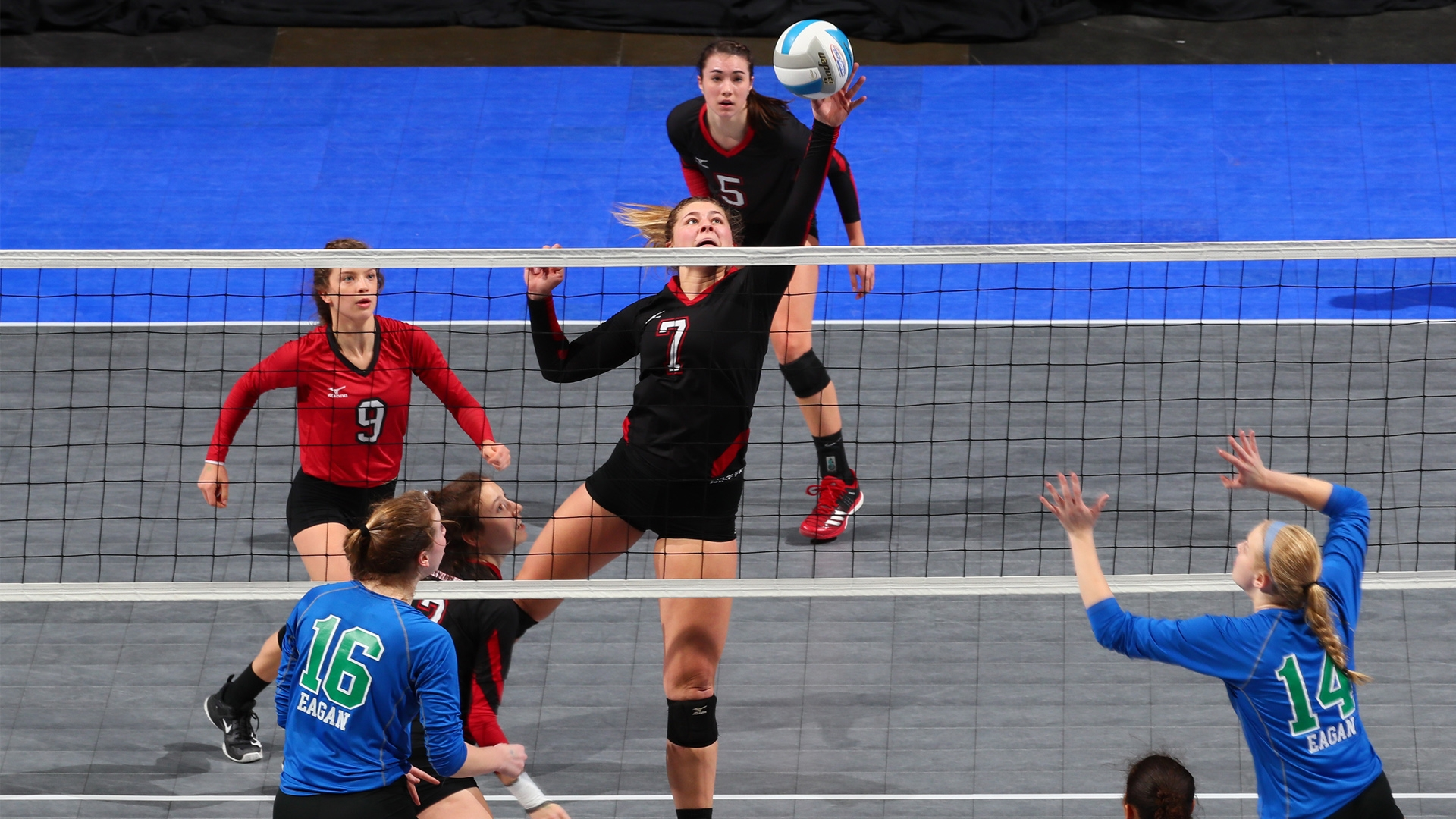 The 2018 MSHSL Girls' Volleyball State Tournament took place Nov. 8-10, 2018 at Xcel Energy Center. Click the link for more information.