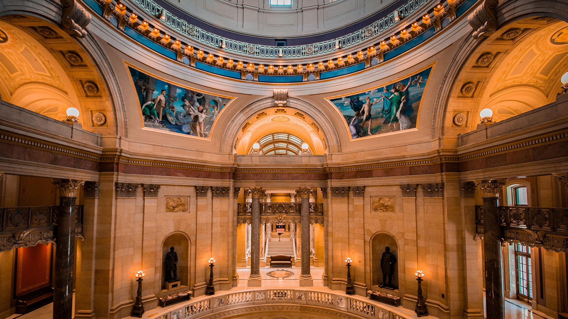 Consider taking a tour while you're in town, such as the recently restored and renovated Minnesota State Capitol