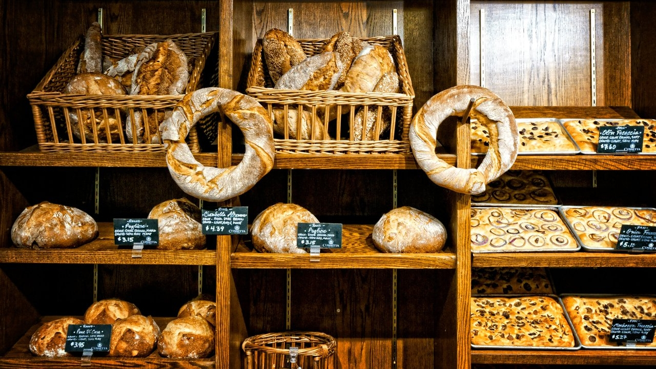 fresh baked breads at Cossetta's