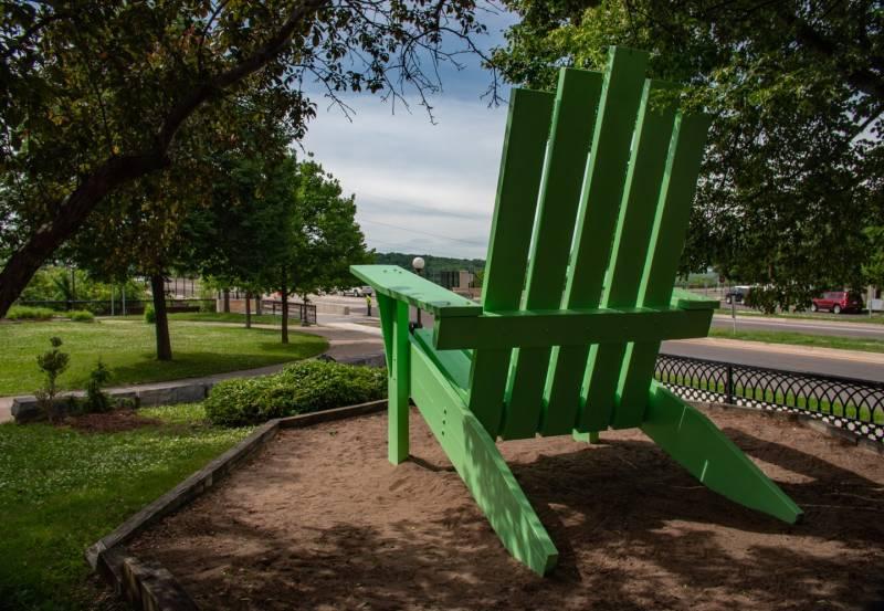 Giant Green Chair Saint Paul