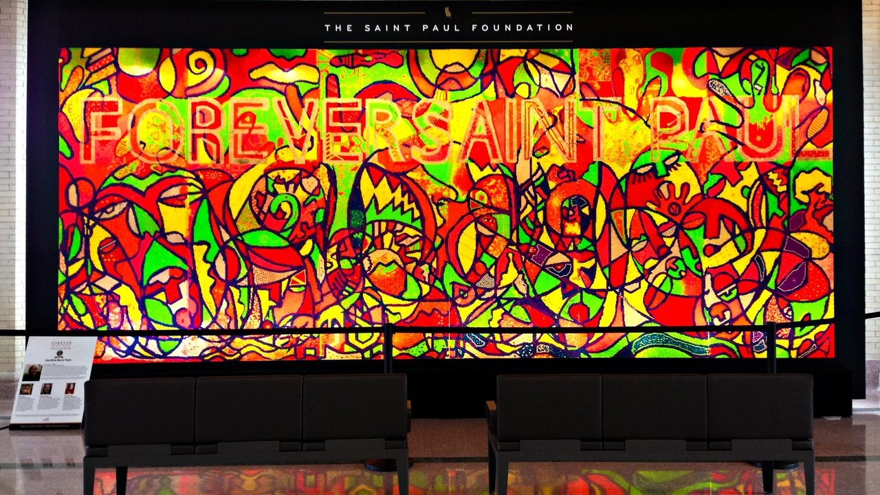 World's Largest Lite-Brite Mural at Union Depot