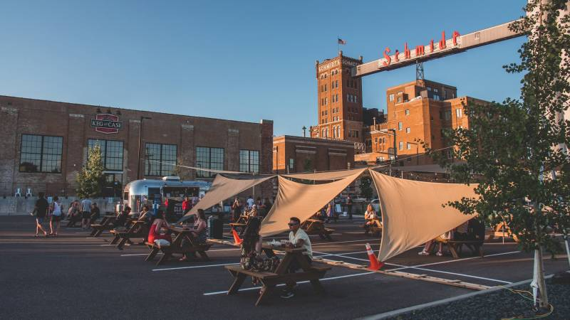 Keg & Case West 7th Market has expanded outdoors with socially distanced seating and Friday music series.