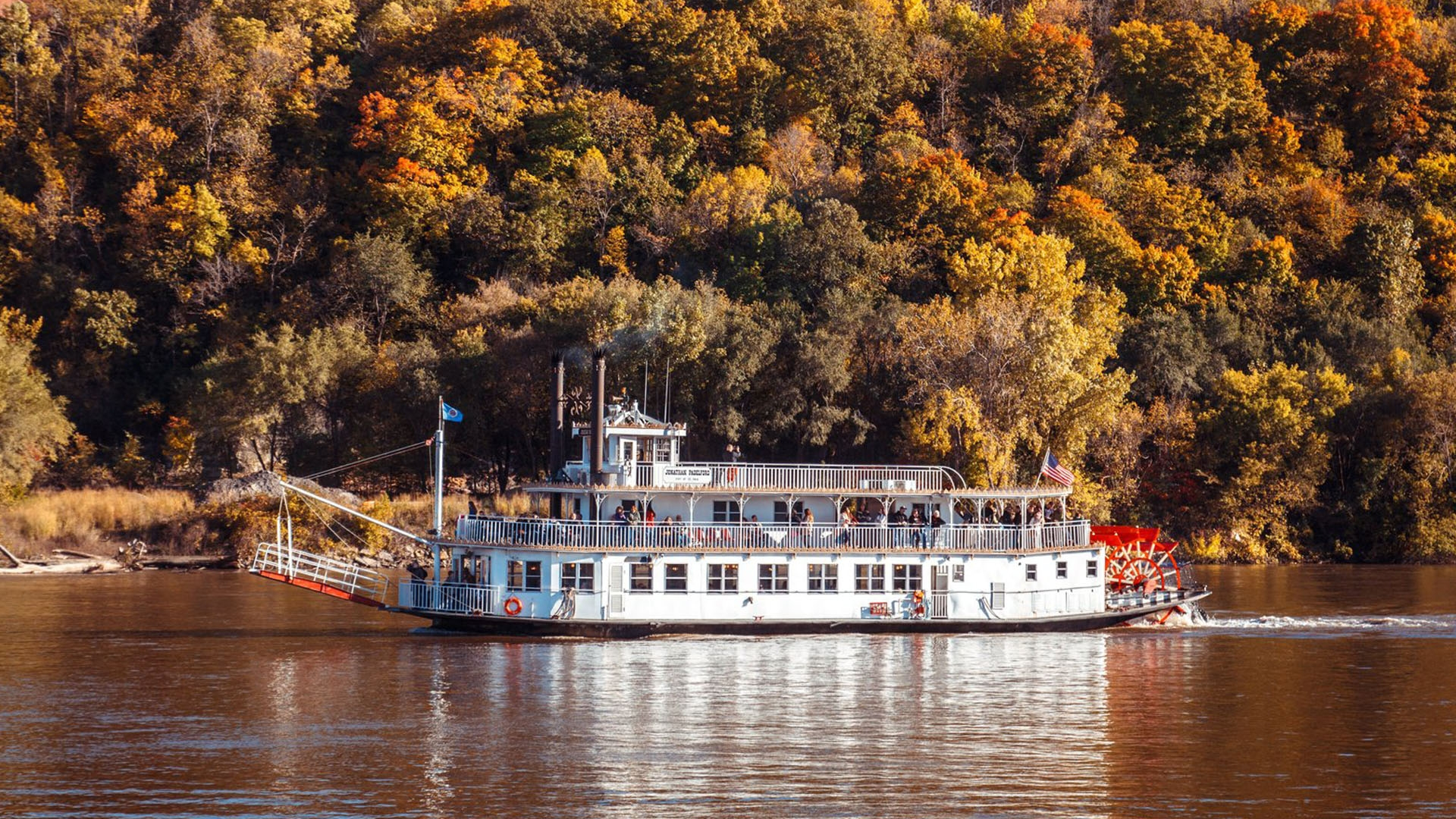 See the fall colors along the Mississippi River