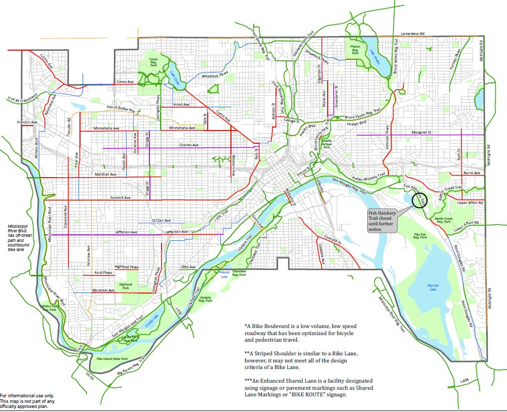 Bicycle Friendly Visit Saint Paul - Us bicycle route system map