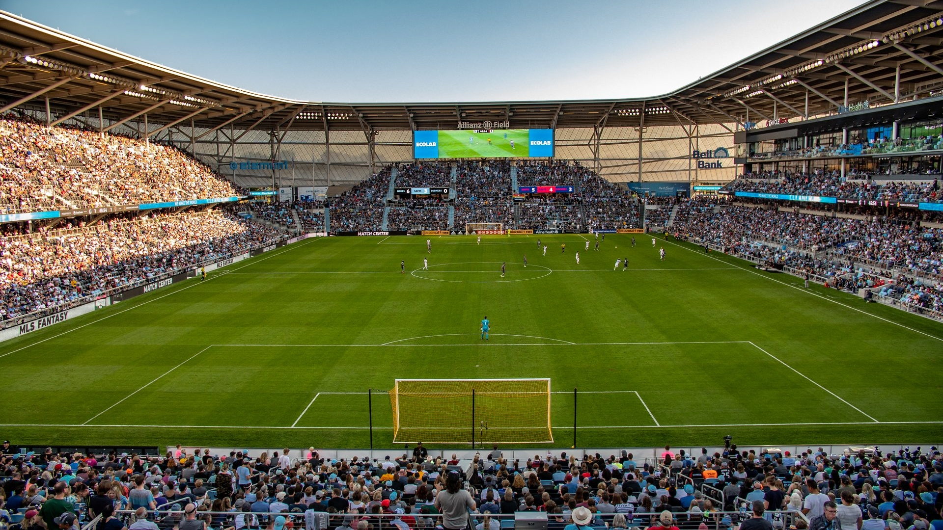 MN United FC of the MLS played in the new Allianz Field in Saint Paul in 2019.