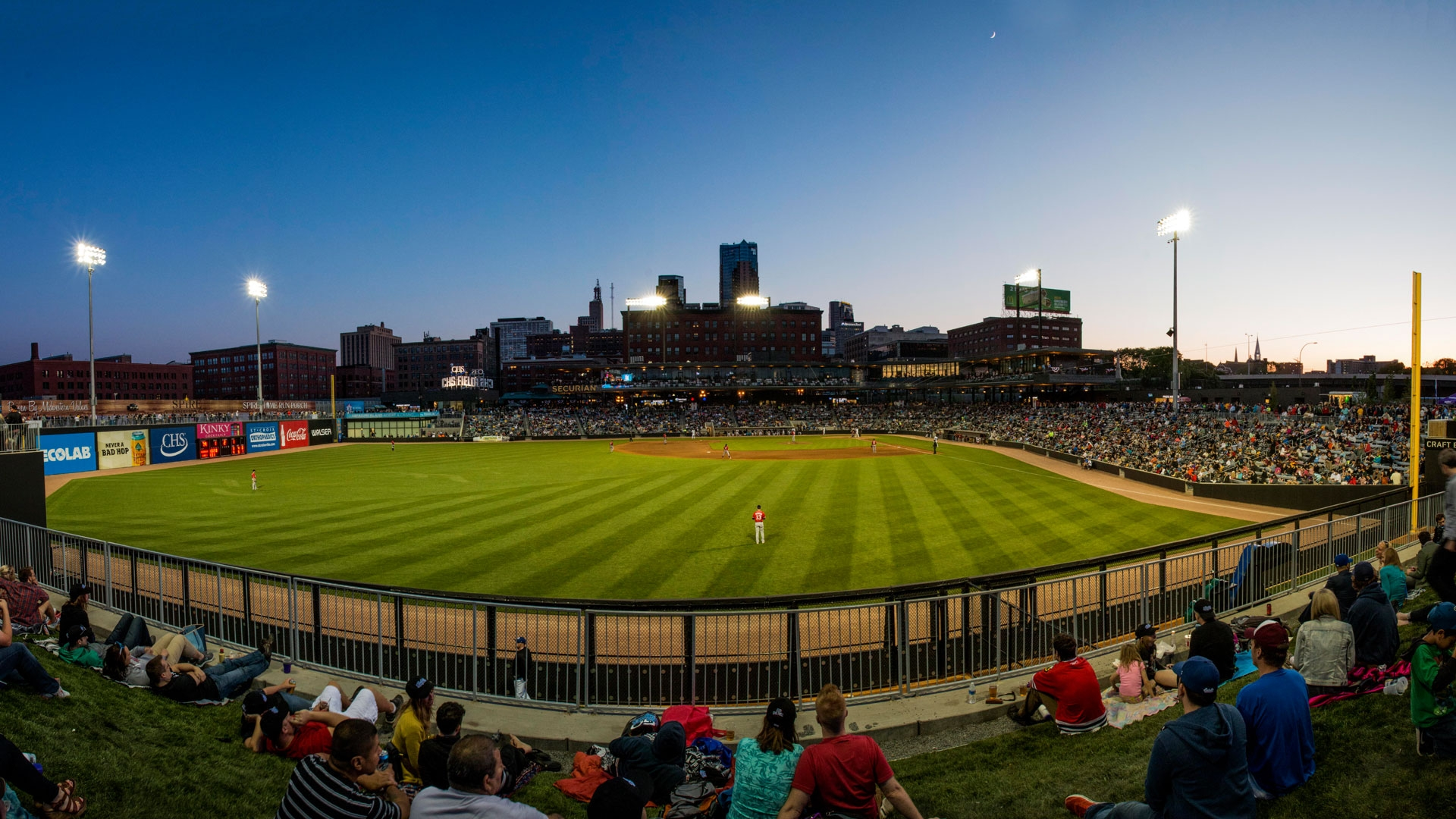 CHS Field is home to the St. Paul Saints and is capable of hosting sporting events of various sizes at the professional and amateur level.