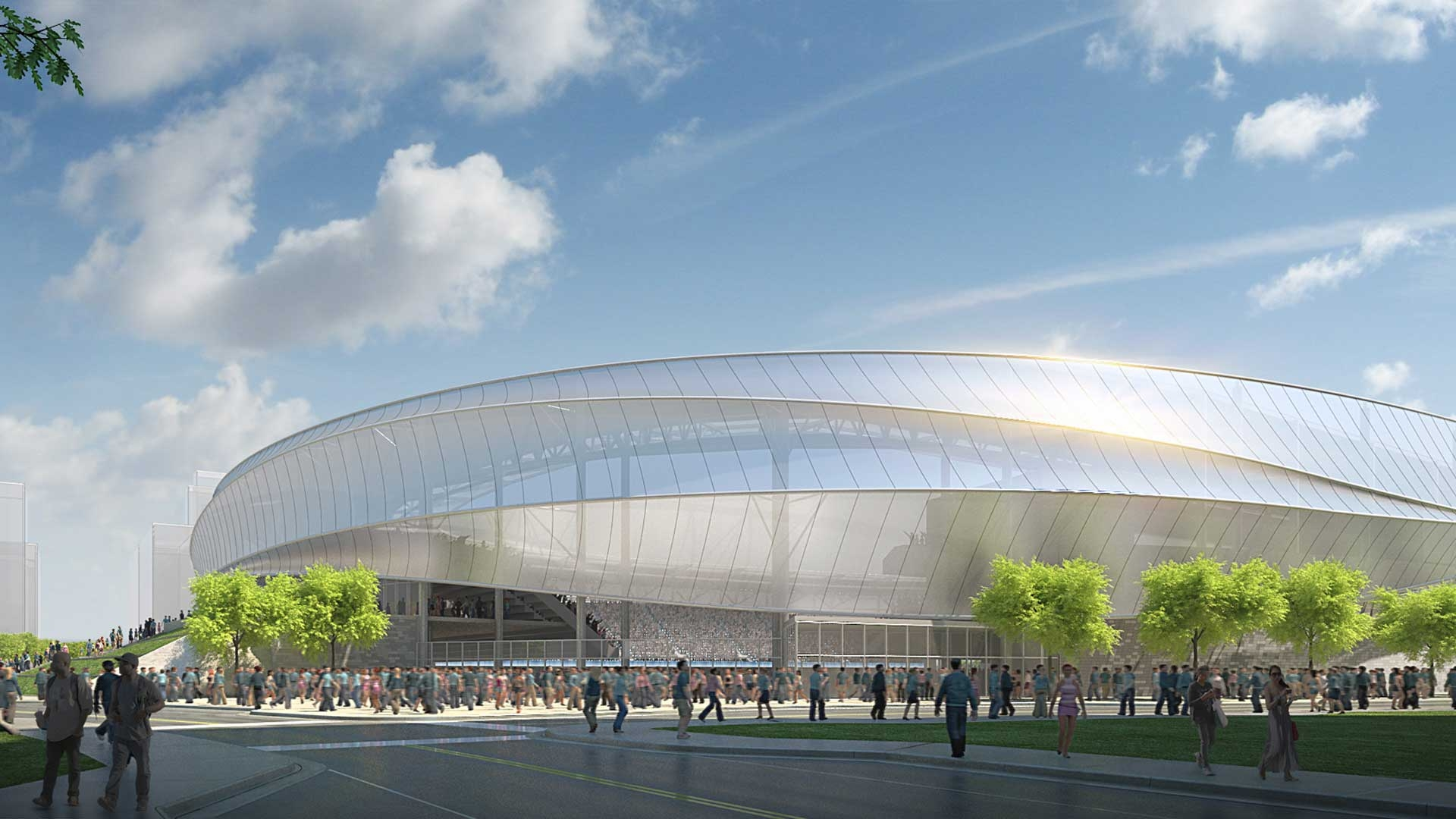 MN United FC of the M LS will play in their new Saint Paul Stadium in 2019. (photo from Populous and MN United FC)