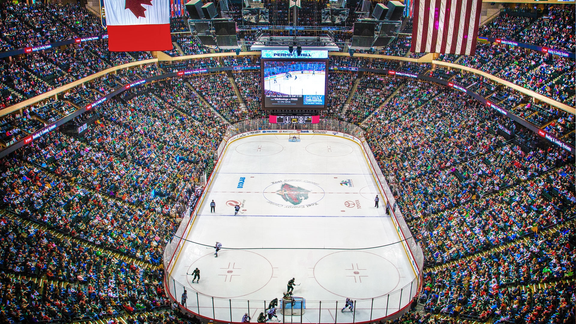 The award-winning Xcel Energy Center is home to the Minnesota Wild and hosts other national championships in various sports as well as the biggest names in music.