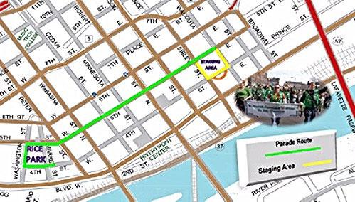 St. Patrick's Day Parade Route Saint Paul