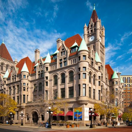 Once the Federal Courts Building, Landmark Center is now open to the public.