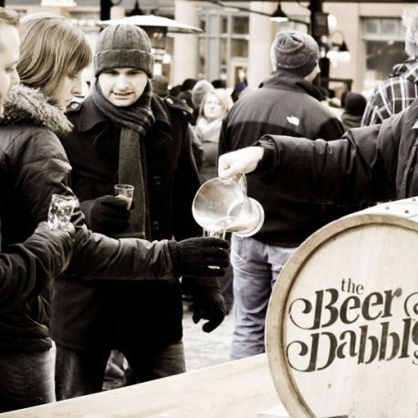 The Beer Dabbler at the Saint Paul Winter Carnival is Minnesota's outdoor beer festival that takes place in winter and summer three times a year.