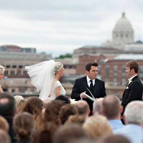 Wedding on the roof of Abule in downtown.