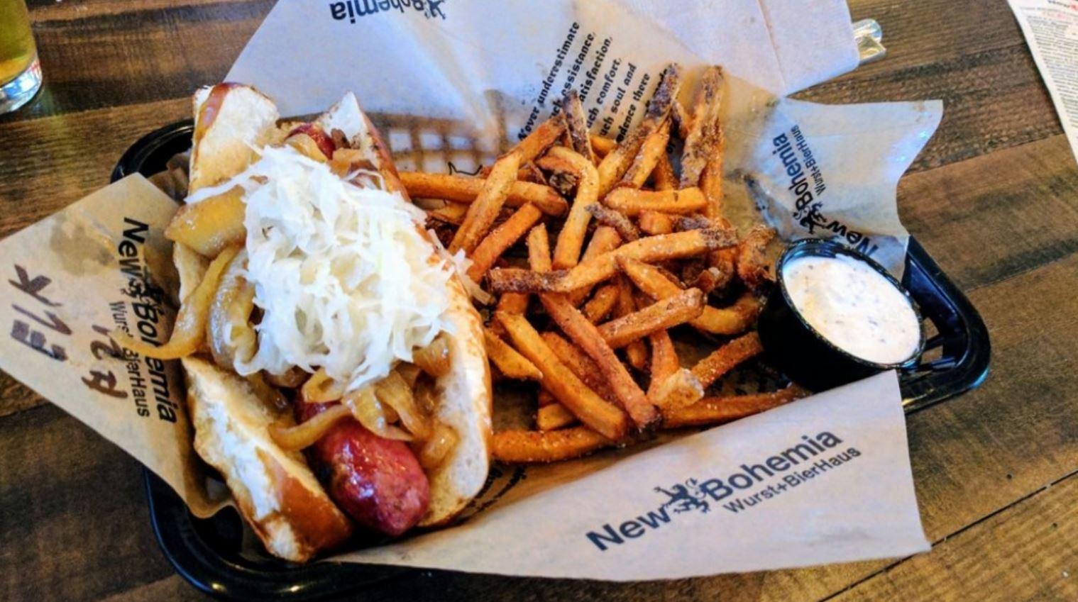New Bohemia Sausage and Fries